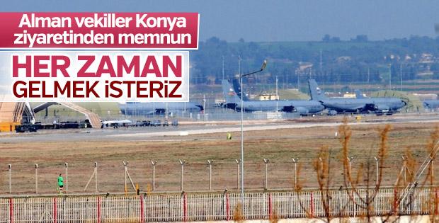 Alman vekiller Konya'ya ziyaret sürekli olsun istiyor