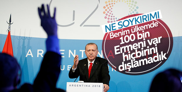 Başkan Erdoğan'a sözde soykırım iddiaları soruldu