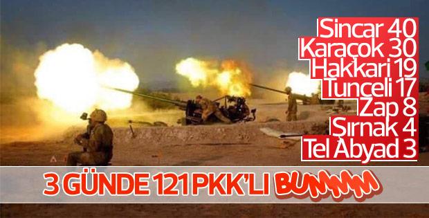 TSK'dan PKK/PYD'ye yoğun operasyonlar