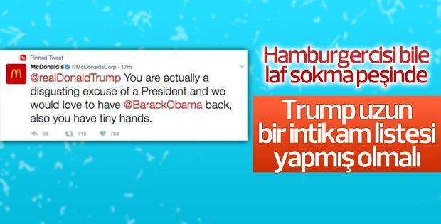 McDonalds Başkan Trump'a Twitter'dan hakaret etti