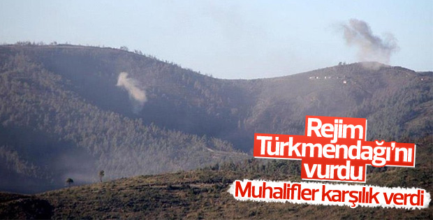 Suriye'de rejim güçleri Türkmendağı'nı vurdu