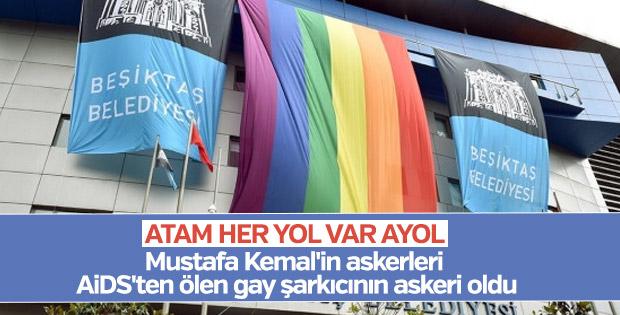 Beşiktaş Belediyesi, binasına LGBTİ bayrağı astı