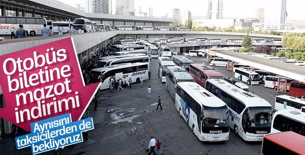 Akaryakıt indirimi otobüs bileti fiyatlarına yansıyacak