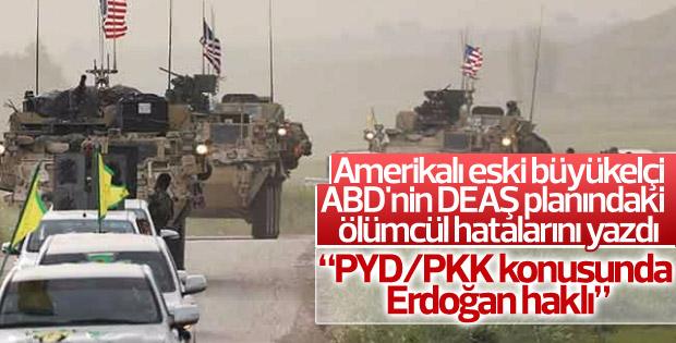 Eski büyükelçi ABD'nin Suriye politikasını yorumladı
