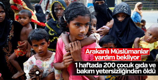 Bangladeş'te Arakanlı Müslüman çocuklar yardıma muhtaç