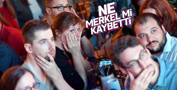 Merkel'in partisinde hüzün hakim