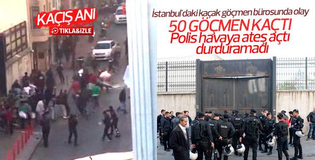 Göçmenler Geri Gönderme Merkezi'nde isyan çıkardı
