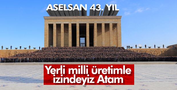 ASELSAN kuruluş yıl dönümünde Anıtkabir'e gitti