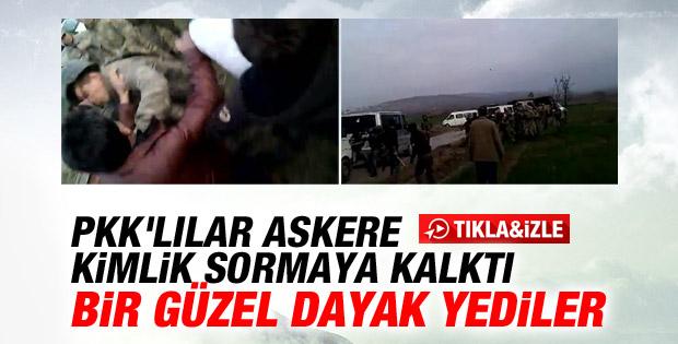 Askere kimlik soran PKK'lılara yumruklu cevap