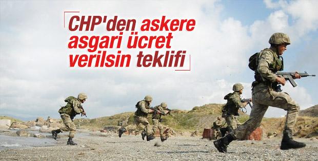 CHP'den er ve erbaşlara harçlık teklifi