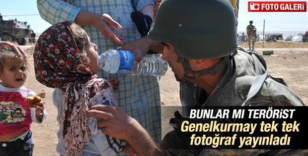 TSK Suriyeli Kürtler'e yardım fotoğraflarını paylaştı İZLE