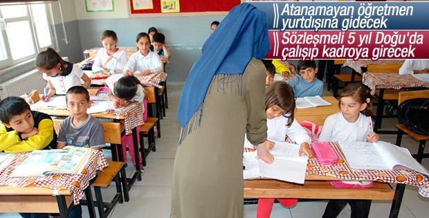 Doğu'da 5 yıl görev yapan öğretmene kadro fırsatı