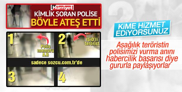Polisimizin vurulma anıyla terör propagandası