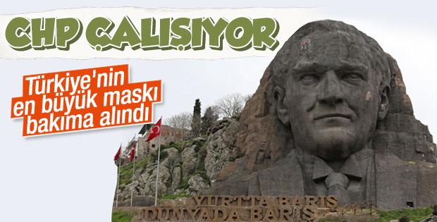 Dev Atatürk maskı bakıma alındı