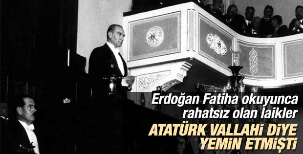Atatürk Cumhurbaşkanlığı yeminini Vallahi diyerek bitirdi