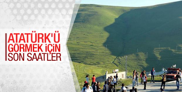 Damal'da hava açınca Atatürk silueti görüldü