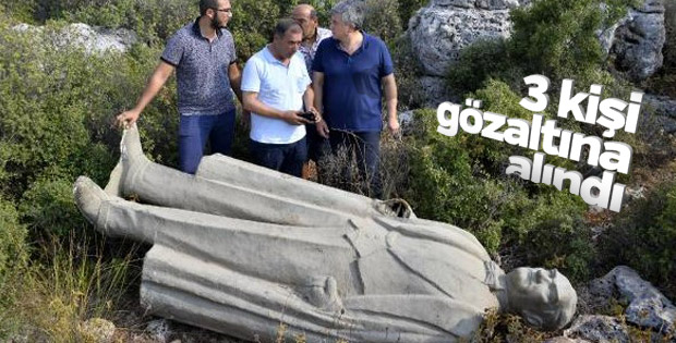 Atatürk heykeli soruşturması: 3 gözaltı
