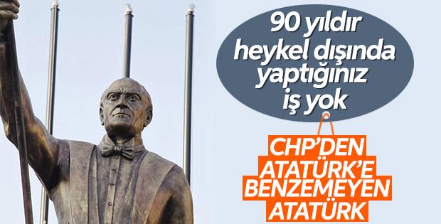 İzmir'de Atatürk'e benzemeyen heykel