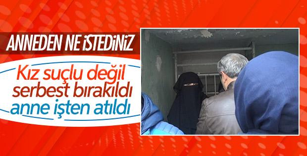 'Atatürk ilah değildir' diyen kadının annesi kovuldu