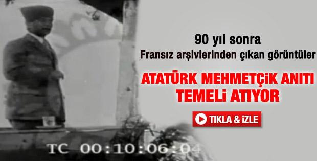 Atatürk'ün Dumlupınar'daki görüntüleri ortaya çıktı - izle