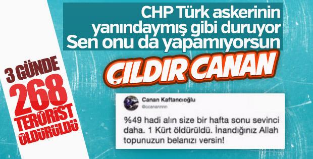 TSK Afrin'de PKK'yı vuruyor, Canan Kaftancıoğlu susuyor