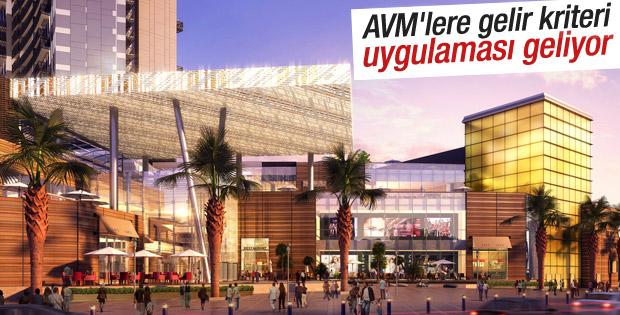 AVM'lere gelir kriteri uygulaması geliyor
