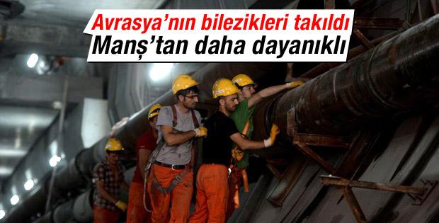 Avrasya Tüneli 2 bilezikle Manş'tan daha dayanıklı oldu