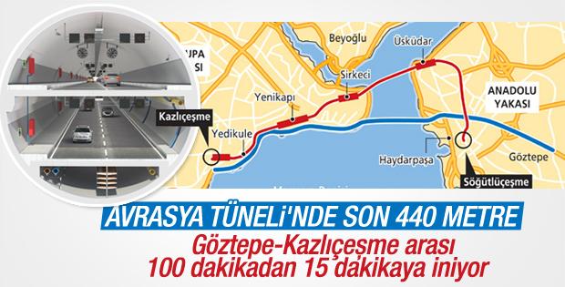 Avrasya Tüneli'nin yüzde 90'ı tamamlandı