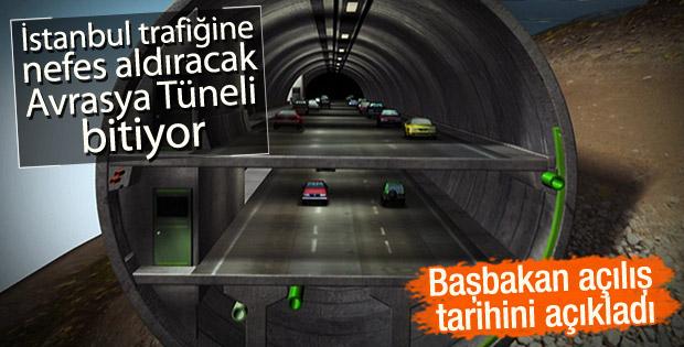 Başbakan Yıldırım: Avrasya Tüneli 20 Aralık'ta açılıyor