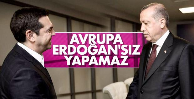 Alexis Çipras, Cumhurbaşkanı Erdoğan'dan övgüyle bahsetti