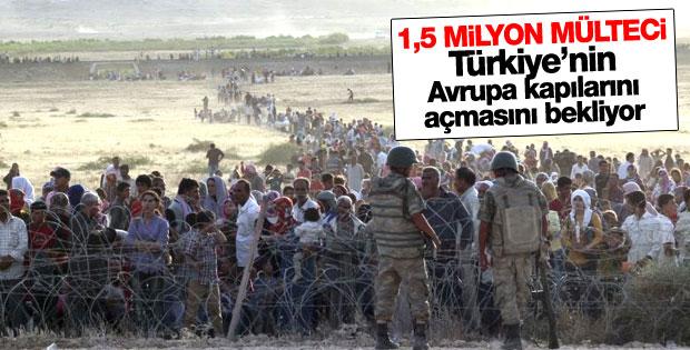 Suriyeli sığınmacılar Avrupa'ya gitmek istiyor
