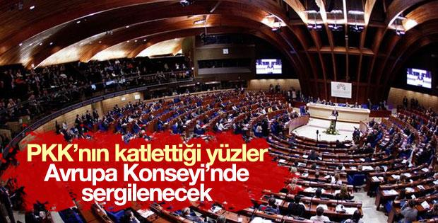 PKK'nın katlettiği yüzler Avrupa Konseyi'nde sergilenecek