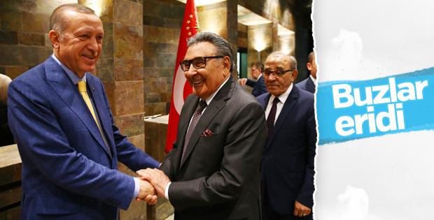 Cumhurbaşkanı Erdoğan ile Aydın Doğan'dan samimi poz