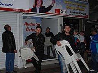 Aydın'da CHP bürosuna saldırı