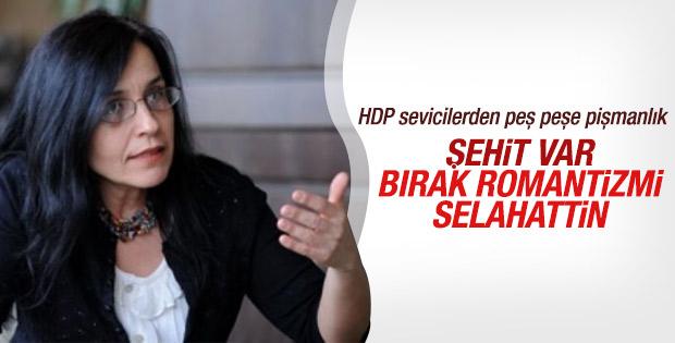 Ayşe Hür Selahattin Demirtaş'ı eleştirdi