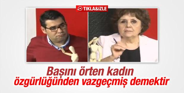 Halk TV'de türban tartışması
