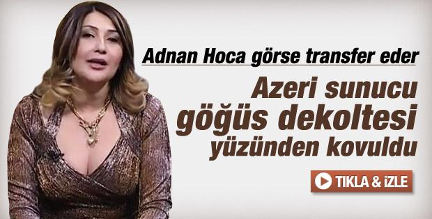 Azerbaycan'da kanaldan kovduran dekolte -izle