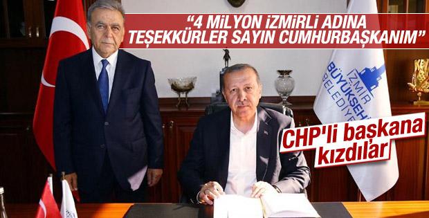 İzmirlilerden Aziz Kocaoğlu'na Erdoğan tepkisi