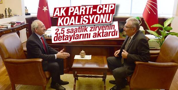 Deniz Baykal Kemal Kılıçdaroğlu ile görüştü