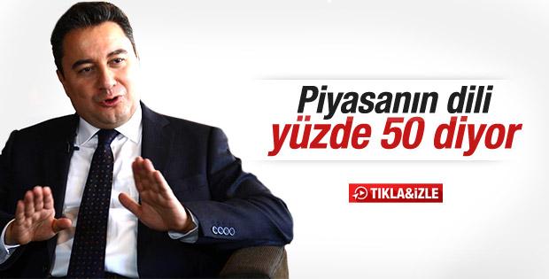 Ali Babacan: Piyasaya güven geldi