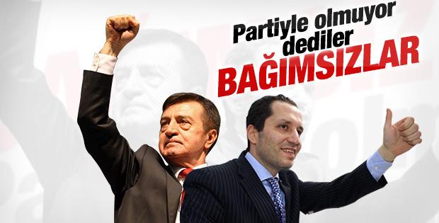 Pamukoğlu ve Erbakan bağımsız aday olacak