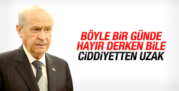 Devlet Bahçeli Davutoğlu'nun görüşme istediğini reddetti