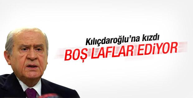 Devlet Bahçeli: Kılıçdaroğlu boş laflar ediyor