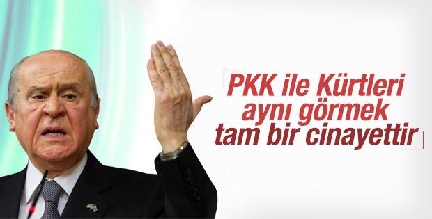 Bahçeli: PKK ile Kürt kardeşlerimizi eşitlemek cinayettir