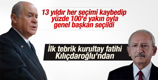 Kılıçdaroğlu Bahçeli'yi kutladı