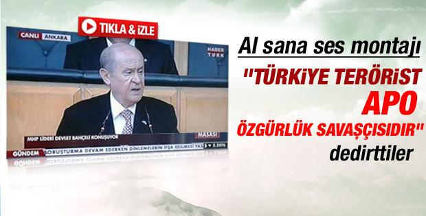 Devlet Bahçeli'nin sesine montaj: Önderimiz Öcalan - izle