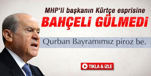MHP Fethiyeli başkanın Türkçe Kürtçe afişini affetmedi