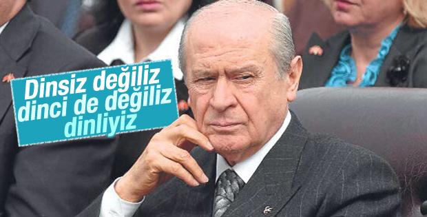 Devlet Bahçeli: MHP dinsiz bir parti değildir