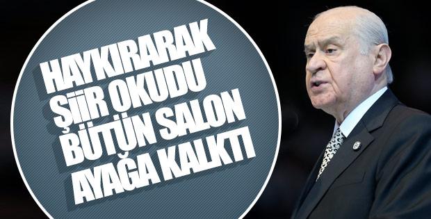 Devlet Bahçeli İzmir mitinginde şiir okudu