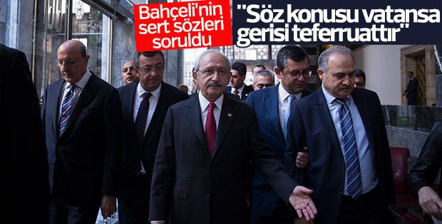 Kılıçdaroğlu'na Bahçeli'nin sözleri soruldu